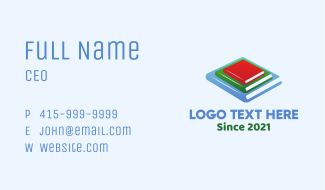 Academic Book Stack Business Card