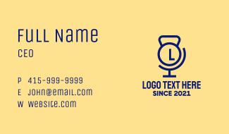 Kettlebell Atlas Lettermark Business Card