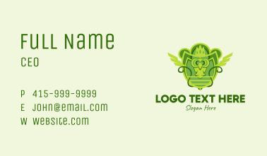 Green Owl Emblem  Business Card
