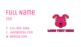 Stuffed Toy Puppy Business Card