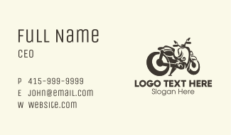Motorcycle Motorbike Business Card