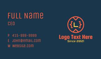 Programming Badge Letter Business Card