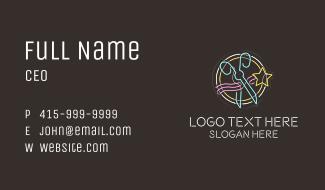 Neon Star Cutter Business Card