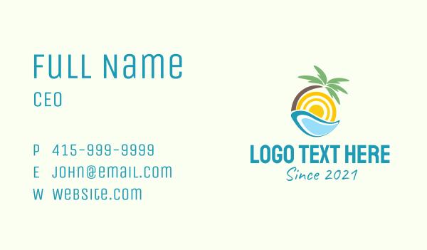 boracay - Modern Beach Resort  Business card horizontal design