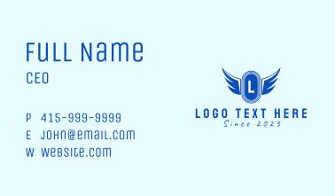 Wing Emblem Letter Business Card