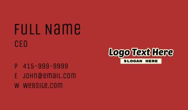 Magazine Journalism Wordmark Business Card