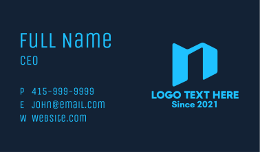 Architectural Letter N Building Business Card