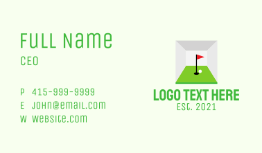 Indoor Golf Course  Business Card