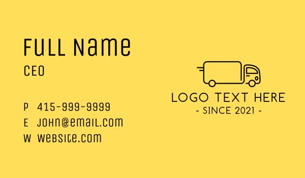truck company - Fast Cargo Truck Business card horizontal design