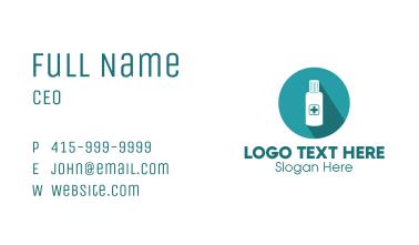Blue Medicine Bottle Business Card