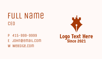 Pen Turret Tower Business Card