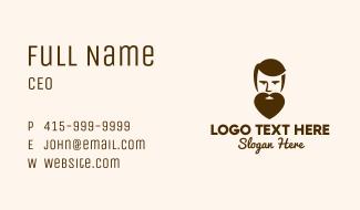 Heart Beard Man Business Card