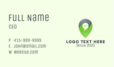 Location Messaging App Business Card
