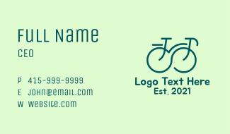 Infinity Line art Bike  Business Card