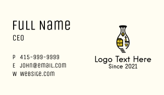 Vase House Fixture  Business Card