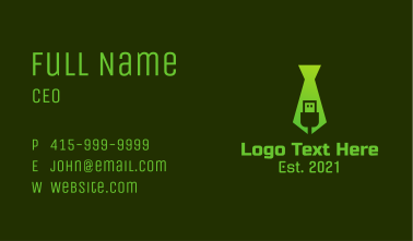 Green USB Tie  Business Card