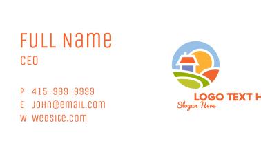 Sunrise House Badge Business Card