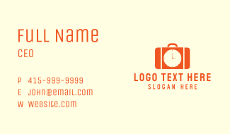 Working Hours Briefcase Business Card