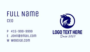 Blue Hermes Emblem  Business Card