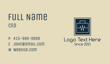 Lifeline Briefcase Business Card