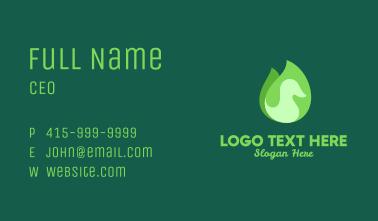 Green Eco Bird Business Card