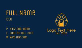 Golden Hop Beer Business Card