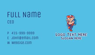 Pig Baseball Pitcher Business Card