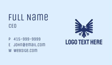 Blue Eagle Crest Business Card