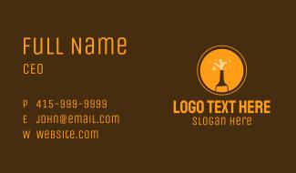 Orange Beer Bottle  Business Card