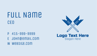 Winged Sword Weapon  Business Card