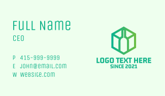 Hexagon Wine Bottle  Business Card