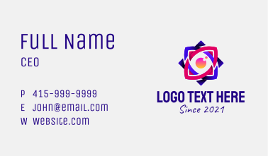 Colorful Mystic Eye  Business Card