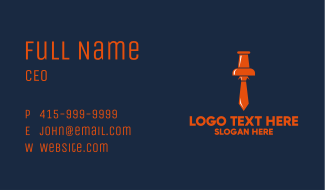 Business Tie Pin Business Card