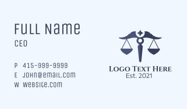 Libra Zodiac Scale  Business Card