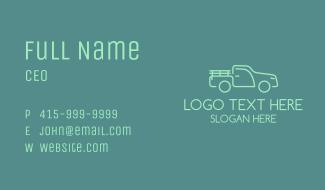 Green Farm Truck Business Card
