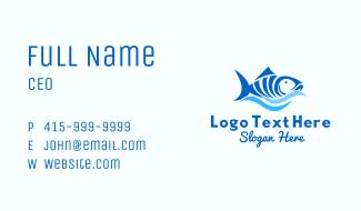 Blue Tuna Fish Business Card
