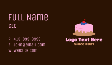 Blueberry Cherry Cake Business Card