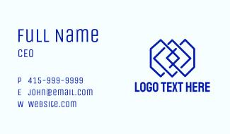 Blue Geometric Tile Business Card