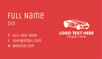 Luxury Sports Car Business Card