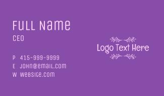 Purple Magical Wordmark Business Card