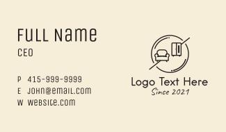 Minimalist Furniture Shop  Business Card