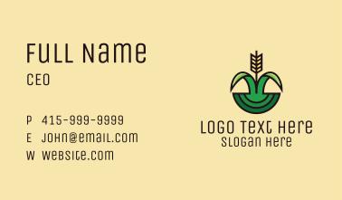 Organic Rice Field  Business Card