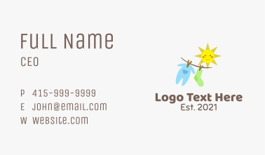 Sunny Baby Clothes Business Card
