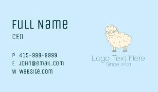 Cute Sheep Mascot  Business Card