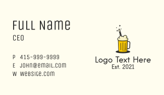 Magic Beer Drink  Business Card