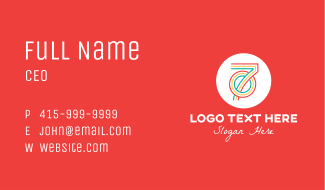 Colorful Retro 70s Business Card