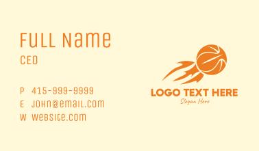 Flaming Basketball Business Card