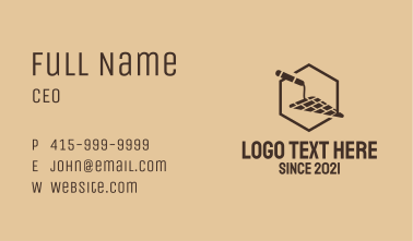 Construction Trowel Tool Business Card