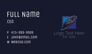 Minimalist Speedboat Business Card
