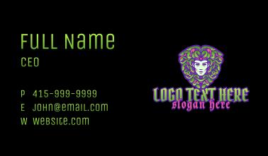 Medusa Shield Emblem Business Card